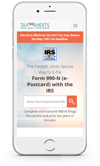 File Form 990 N Online 990n E File Form 990 N E Postcard